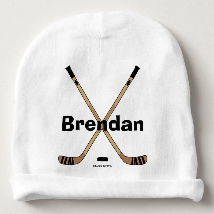 Hockey Sticks Baby Infant Personalized Hockey Name Baby ...