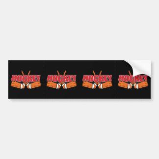 Hockey Sticks Bumper Sticker