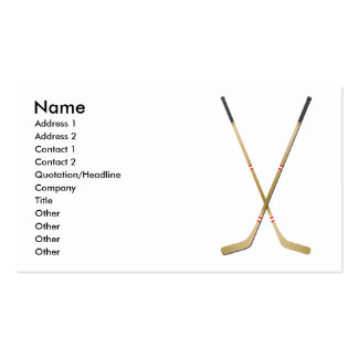 Hockey Sticks - Business Business Card Templates