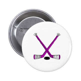 Hockey Sticks Pinback Button