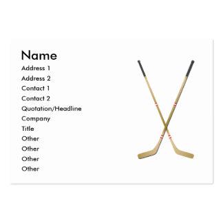 Hockey Sticks - Chubby Large Business Card
