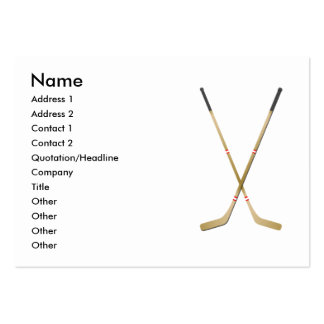 Hockey Sticks - Chubby Large Business Cards (Pack Of 100)