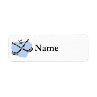 Hockey Sticks Custom Return Address Label