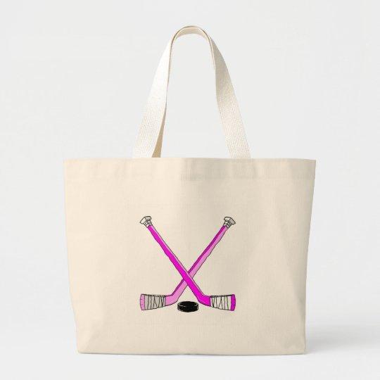 Hockey Sticks Large Tote Bag