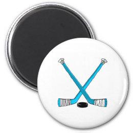 Hockey Sticks Magnet
