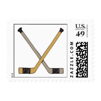 Hockey Sticks Postage