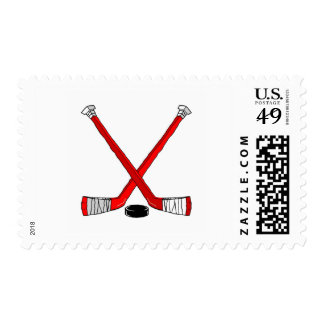 Hockey Sticks Postage Stamp