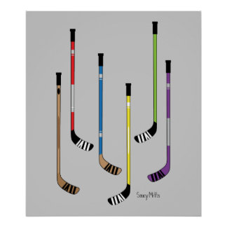 Hockey Sticks Poster