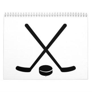 Hockey sticks puck calendar