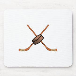 Hockey Sticks & Puck Mouse Pad