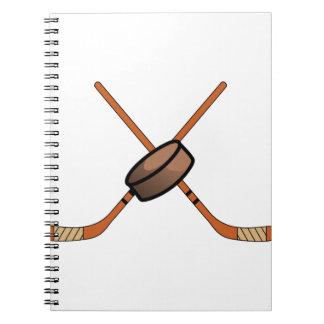 Hockey Sticks & Puck Notebook