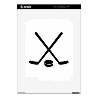 Hockey sticks puck skin for iPad 2