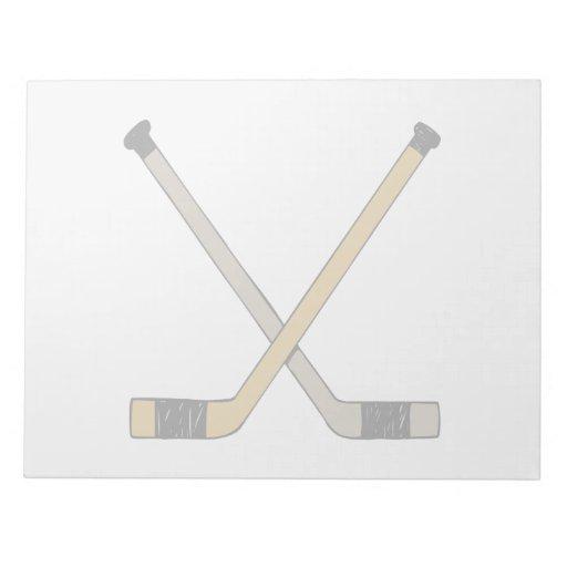Hockey Sticks Scratch Pad