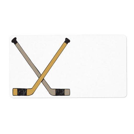 Hockey Sticks Shipping Label