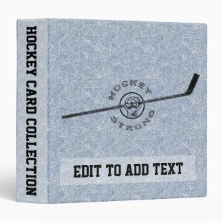Hockey Strong Trading Card Album, Customizable 3 Ring Binder