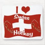 Hockey suizo tapetes de raton