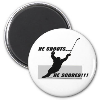 Hockey T-shirts and Gifts. 2 Inch Round Magnet