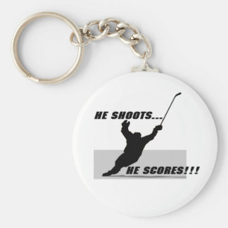Hockey T-shirts and Gifts. Basic Round Button Keychain