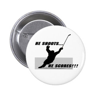Hockey T-shirts and Gifts. Button