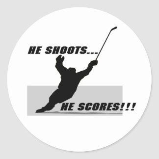 Hockey T-shirts and Gifts. Classic Round Sticker