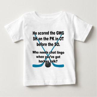 Hockey Talk Baby T-Shirt