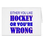 hockey tarjeta de felicitación