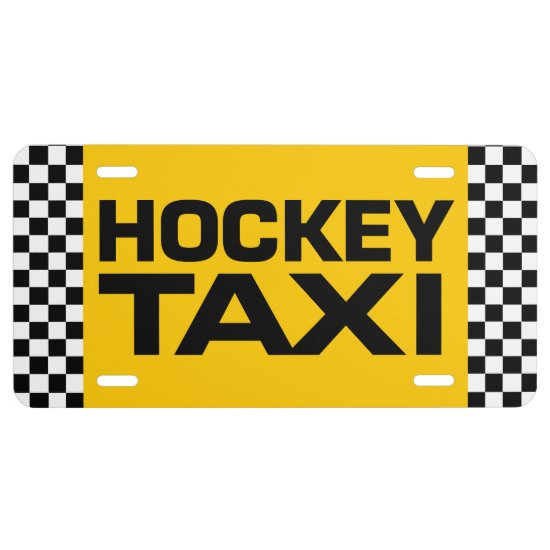 Hockey Taxi License Plate