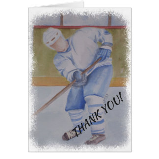 HOCKEY THANK YOU CARD