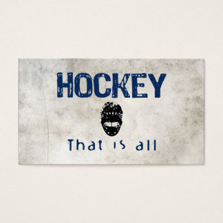 Hockey That Is All Business Card