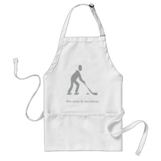 Hockey.......the cure to boredom adult apron