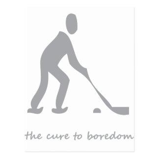 Hockey.......the cure to boredom post card