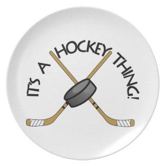 Hockey Thing Melamine Plate