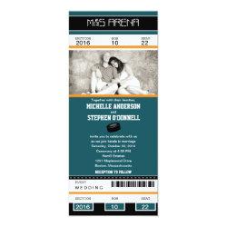 Hockey Ticket Wedding Invitation 4