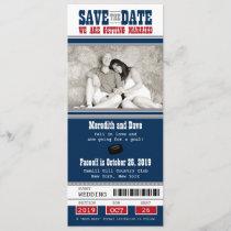 Hockey Ticket Wedding Save the Date