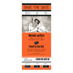 Hockey Ticket Wedding Save the Date Personalized Invites