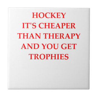 HOCKEY. SMALL SQUARE TILE
