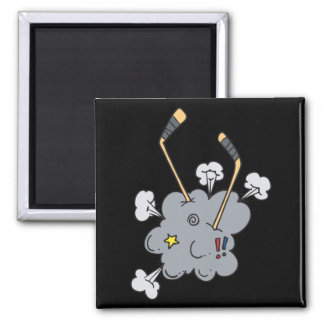 Hockey Time 2 Inch Square Magnet