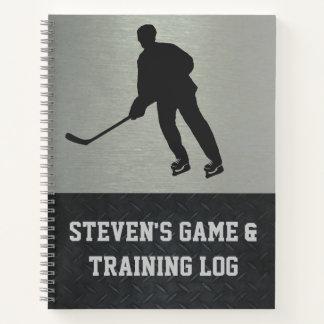 Hockey Training Logbook Notebook