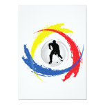 Hockey Tricolor Emblem 5x7 Paper Invitation Card