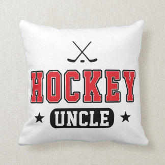 Hockey Uncle Throw Pillow