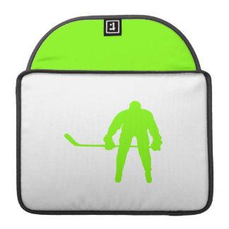 Hockey verde chartreuse, de neón funda para macbooks
