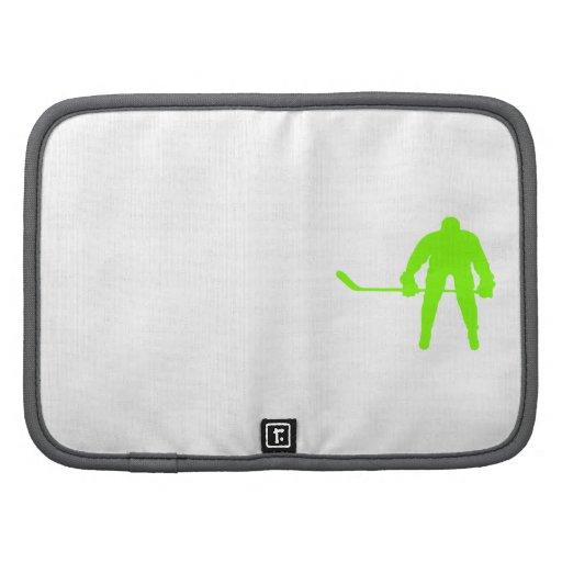 Hockey verde chartreuse, de neón organizador