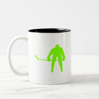 Hockey verde chartreuse, de neón taza de café