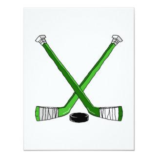 Hockey verde anuncio personalizado