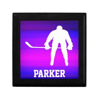 Hockey; Vibrant Violet Blue and Magenta Keepsake Boxes