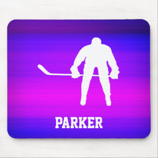 Hockey; Vibrant Violet Blue and Magenta Mouse Pad