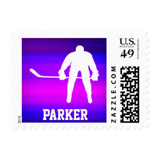 Hockey; Vibrant Violet Blue and Magenta Stamps