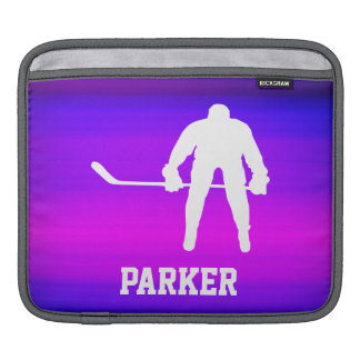 Hockey; Vibrant Violet Blue and Magenta Sleeve For iPads