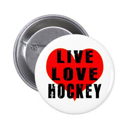 Hockey vivo del amor pin