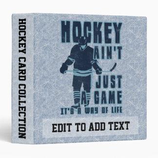 Hockey Way of Life Card Album, Customizable Vinyl Binder